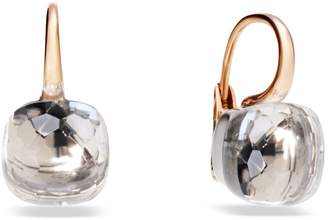 Pomellato Nudo Clear Topaz Rose Gold Earrings
