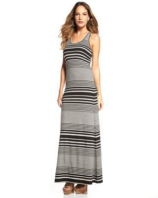Robert Rodriguez Robbi & Nikki Striped Jersey Maxi Dress
