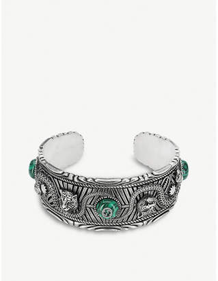 Gucci Garden sterling silver and resin cuff bracelet