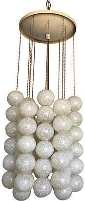 One Kings Lane Vintage Lucite Balls Pendant Light