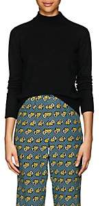 Masscob Women's Merino Wool-Blend Mock-Turtleneck Sweater - Black