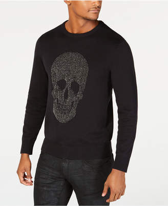 INC International Concepts I.N.C. Men's Metallic Skull Sweater, Created for Macy's