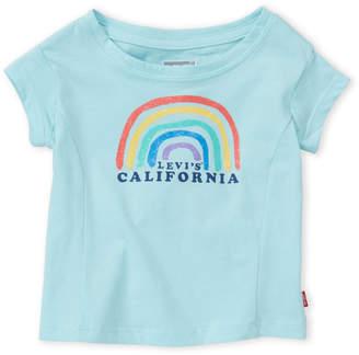 Levi's Toddler Girls) Glitter Rainbow Tee