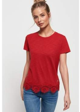 Superdry Morocco Lace Hem T-Shirt