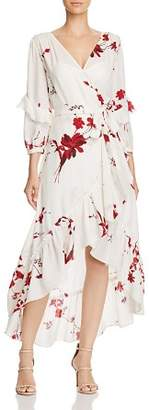 Joie Anawrette Floral Silk Wrap Dress
