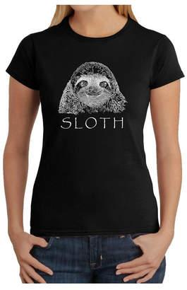Women Word Art T-Shirt - Sloth