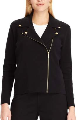 Chaps Women's Asymmetrical Sweater Jacket