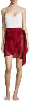 MICHAEL Michael Kors Striped Sarong Cover Up