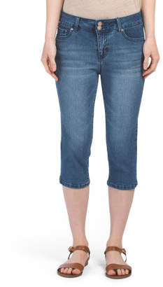 High Waisted Denim Capris