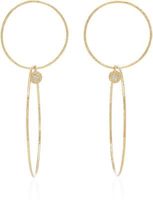ae99824a4 Octavia Elizabeth 18K Gold Diamond Hoop Earrings