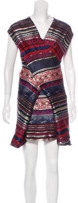 Kenzo Jacquard Wrap-Front Dress