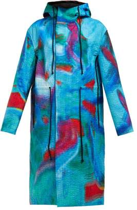 Craig Green Iridescent Hued Quilted Parka Jacket - Womens - Blue Multi