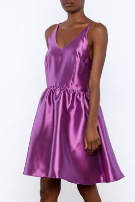 Luna Satin Cross Back Dress