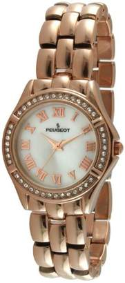 Peugeot Women's 7037RG Analog Display Japanese Quartz Rose Gold Watch