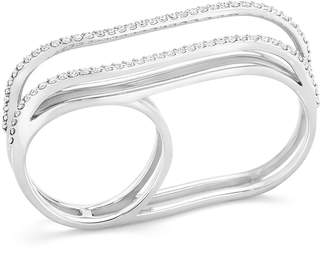 Paige Novick White Diamond Double-Finger Ring, Size 7