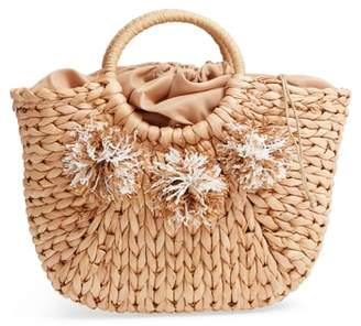 Street Level Woven Straw Tote