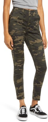 Love, Fire Camo Print Skinny Utility Pants