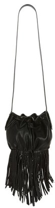 Steve Madden BSandro Fringed Faux Leather Bucket Bag $98 thestylecure.com