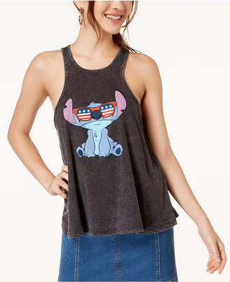 Mighty Fine Juniors' Disney Stitch Graphic Tank Top