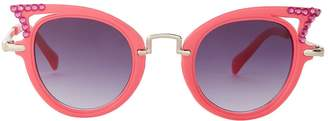 Cat Eye Bari Lynn Embellished Sunglasses