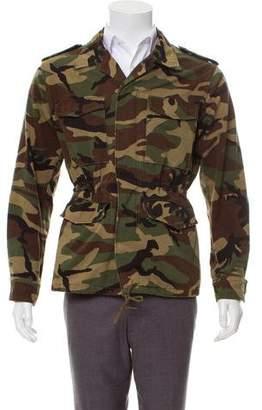 Saint Laurent Love Appliqué Camo Jacket