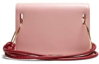 Roksanda Dia Leather Shoulder Bag - Womens - Pink Multi