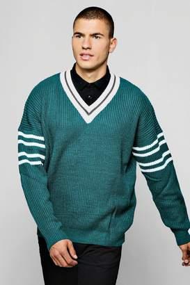 boohoo Oversized V Neck Knitted