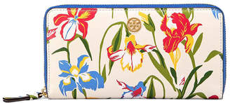 Tory Burch Printed Floral Zip Continental Wallet