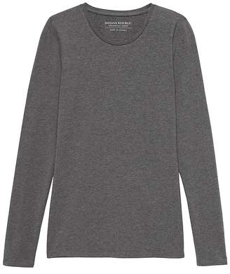 Banana Republic Stretch Cotton-Modal Fitted Crew-Neck T-Shirt