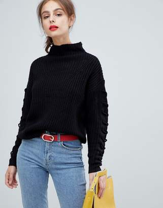 Vero Moda Funnel Neck Side Stitch Sweater