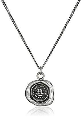 Pyrrha talisman Sterling Ship Necklace