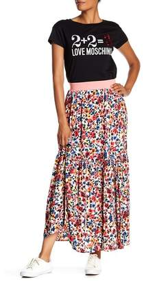 Love Moschino Balze Allover Floral Maxi Skirt