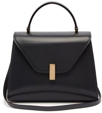 Valextra - Iside Medium Leather Bag - Womens - Dark Grey