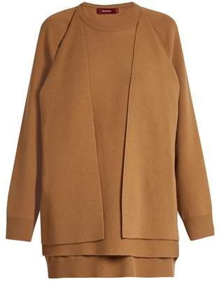 Sies Marjan - Double Layer Wool Blend Sweater - Womens - Beige