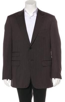Belvest Wool Pinstripe Blazer