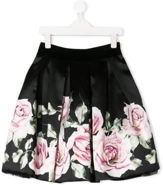 MonnaLisa floral print full skirt