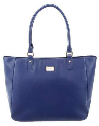 St. John Leather Zip Tote