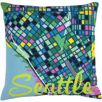 Hannah Bass Needlepoint Seattle City Map Tapestry Kit