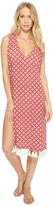 MICHAEL Michael Kors Rope Geo Cover-Up Dress w/ Lace-Up Sides Women's Swimwear