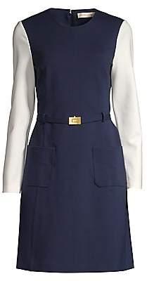 Tory Burch Women's Colorblock Ponte A-Line Dress