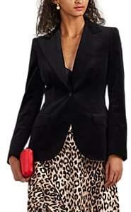 Dolce & Gabbana Women's Cotton Velvet One-Button Blazer - Black