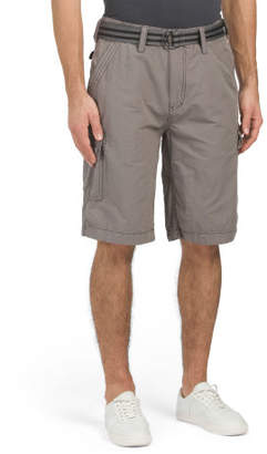 Ripstop Belted Cargo Shorts
