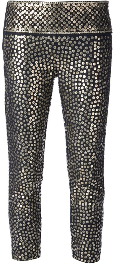 Isabel Marant cropped sequinned trouser