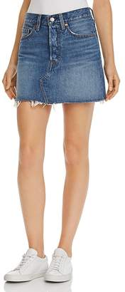 Levi's Deconstructed Denim Mini Skirt in Middle Man