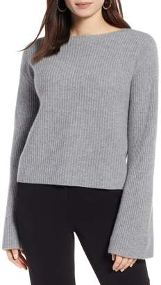 Halogen Bell Sleeve Cashmere Sweater (Regular & Petite)
