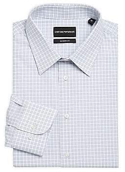 Emporio Armani Men's Modern-Fit Check Dress Shirt