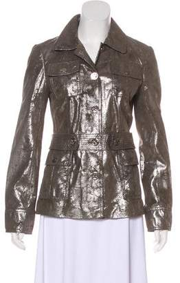 Tory Burch Metallic Casual Jacket