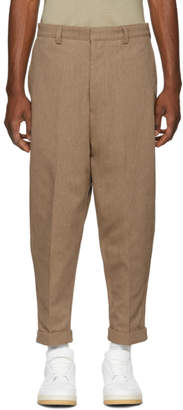 Ami Alexandre Mattiussi Tan Oversized Chino Trousers