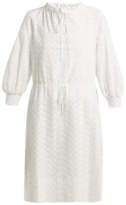 See by Chloe Broderie Anglaise Cotton Dress - Womens - White