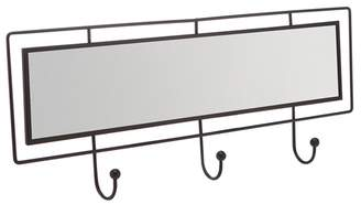 Debenhams Home Collection - Black Metal Mirror With Hooks
